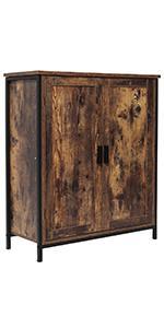 Floor Storage Cabinet with 1 Shelf amp;amp;amp; 2 Doors