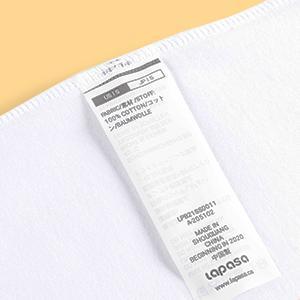 Easy tear wash label