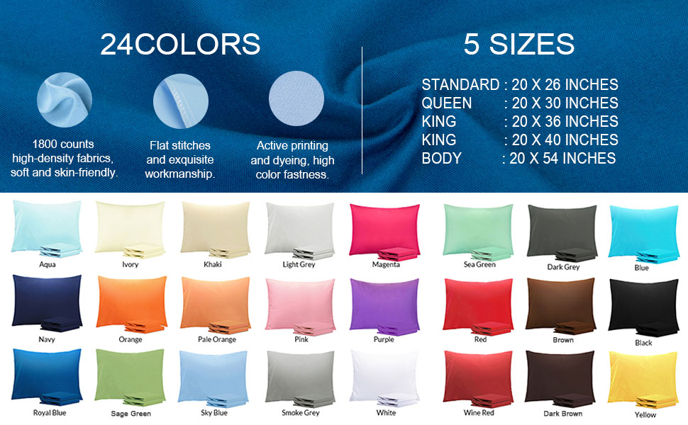 microfiber pillowcase