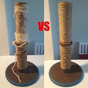DIY krabpaal voor kRepareer en vervang versleten kattenkrabpaalatten