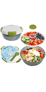 salad container with ice pack