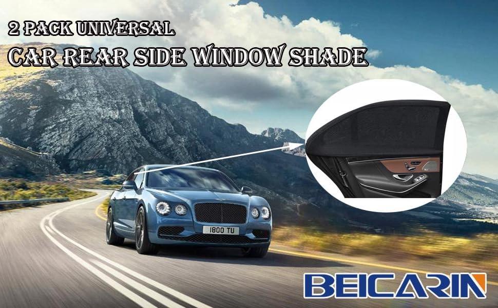 Car rear side window shade