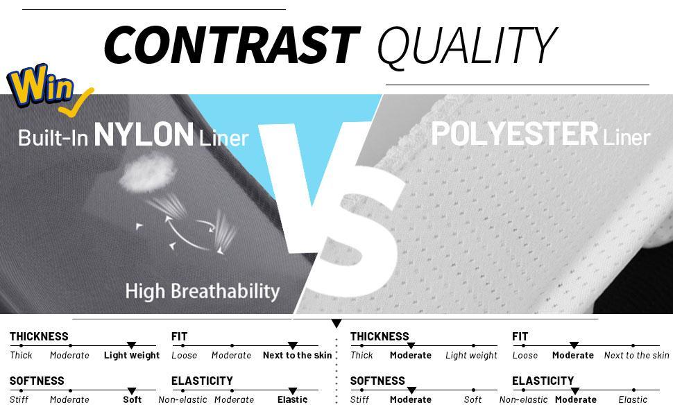 nylon built in brief underwear super stretch soft comfortable flexible quick dry dri fit running