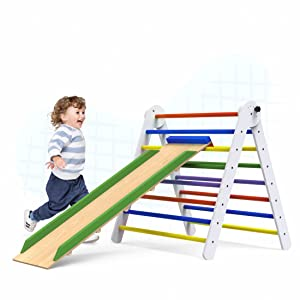 2-in-1 slide and climbing toy