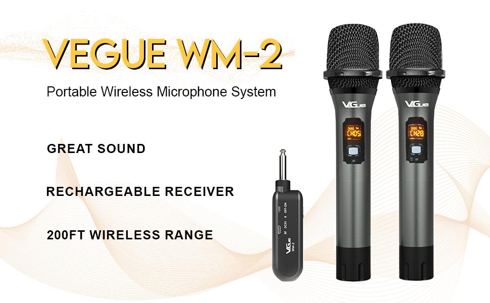VEGUE WM-2 WIRELESS MICROPHONE