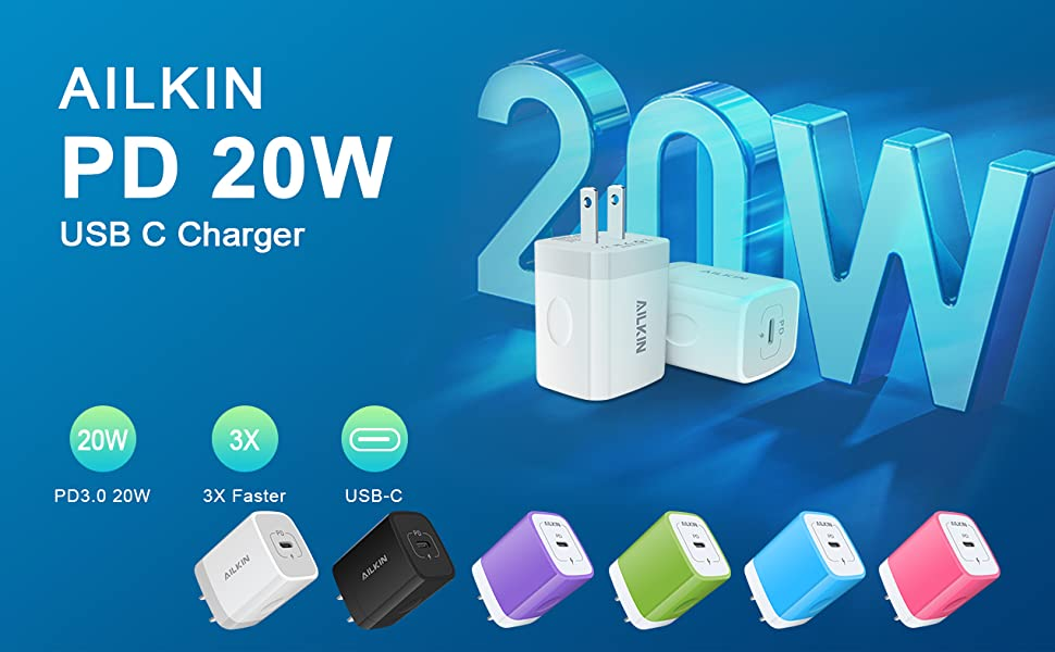 20W wall charger adapter