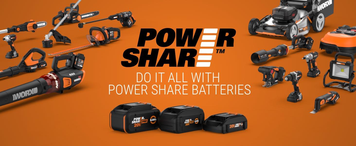 WORX 20V Power Share Program