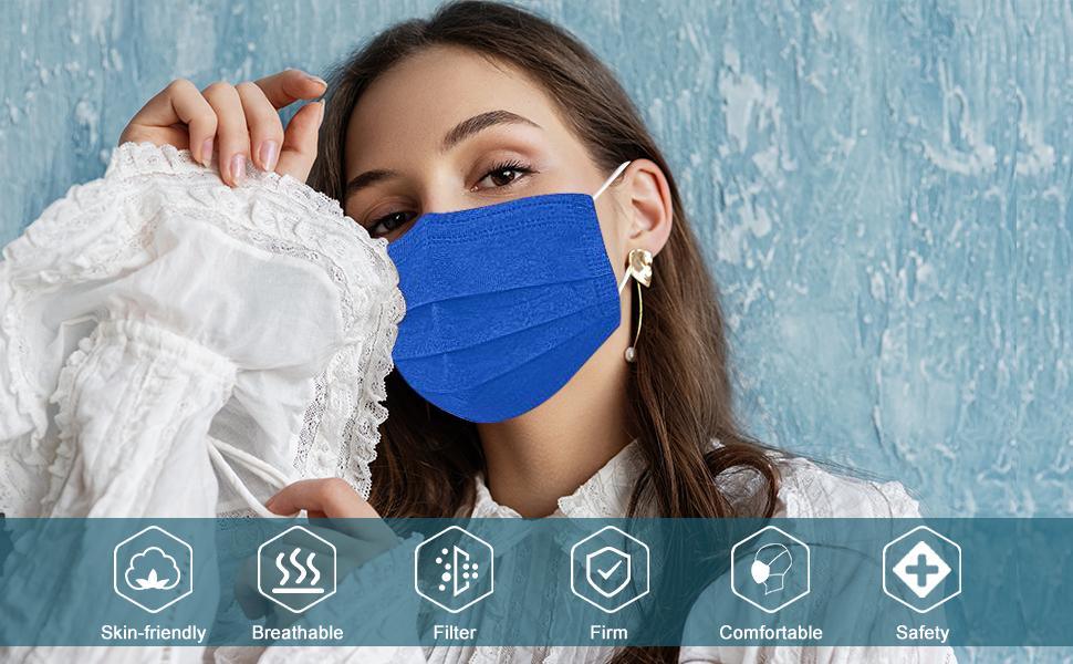 muticolored face mask