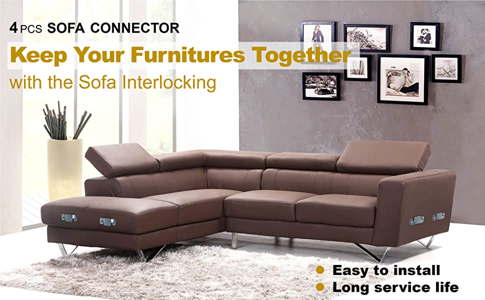 4PCS SOFA CONNECTOR: Keep Your Furnitures Together with the Sofa Interlocking