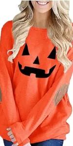 Womens Halloween Shirts Pumpkin Sweatshirt