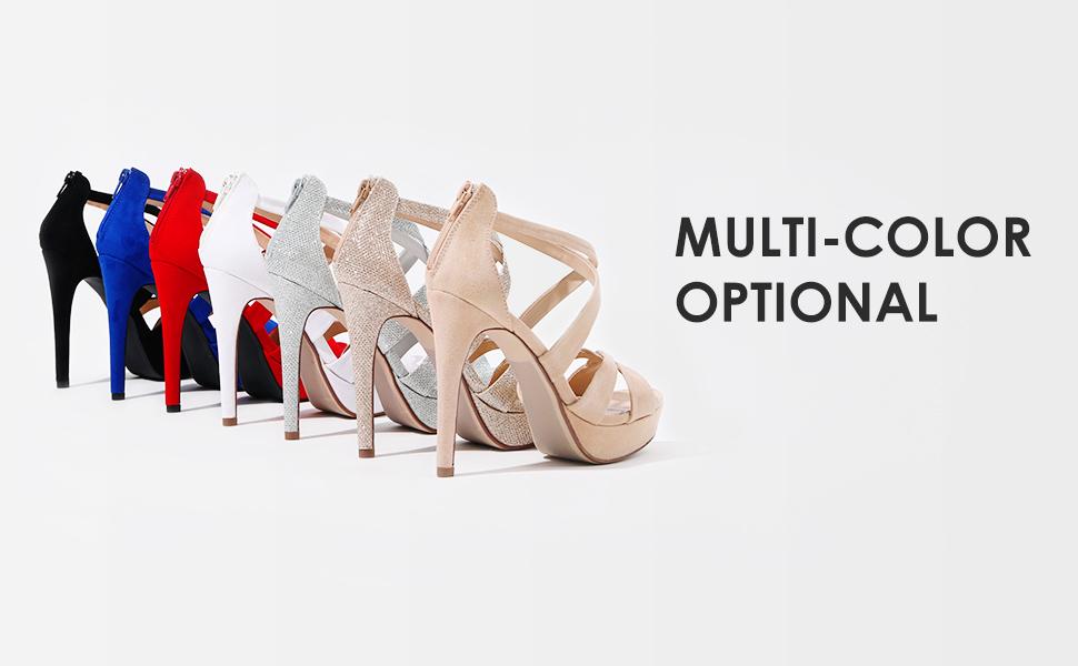 Women's High Heel Platform Dress Pump Sandals