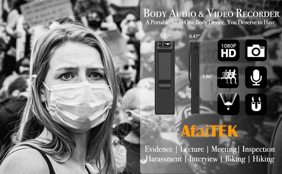 Hidden Audio Video Recorder camera gear spy kits cam security outdoor no wifi needed lectures video