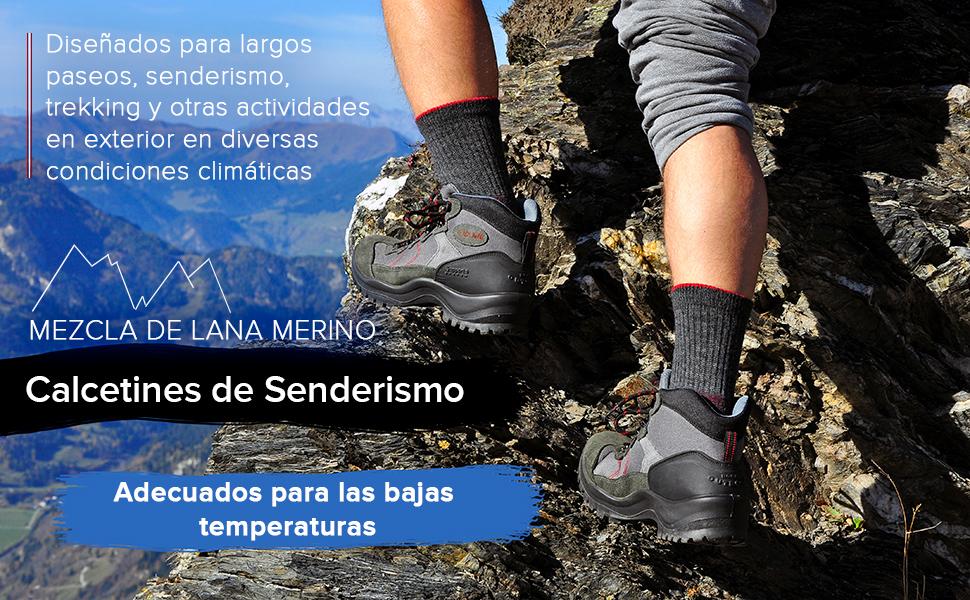 calcetines lana merino hombre senderismo trekking