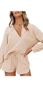 Lingswallow Waffle Lounge Sets for Women