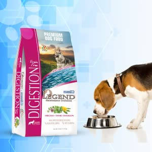 Legend Digestion bag with dog eating on the right