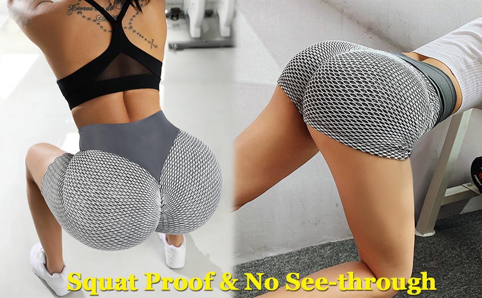 Butt Scrunch Biker Shorts Yoga High Waisted Booty Tummy Control Sexy Athletic Butt Lifting Shorts
