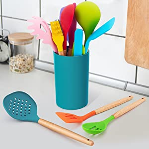 colored kitchen utensils