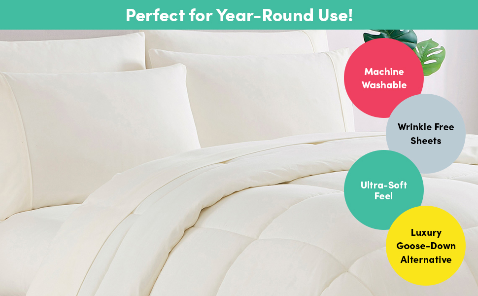 BED SHEETS AND COMFORTER