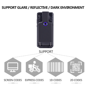 portable wireless bluetooth back clip barcode scanner