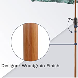 faux wood finish