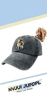 Beagle Ponytail Hat