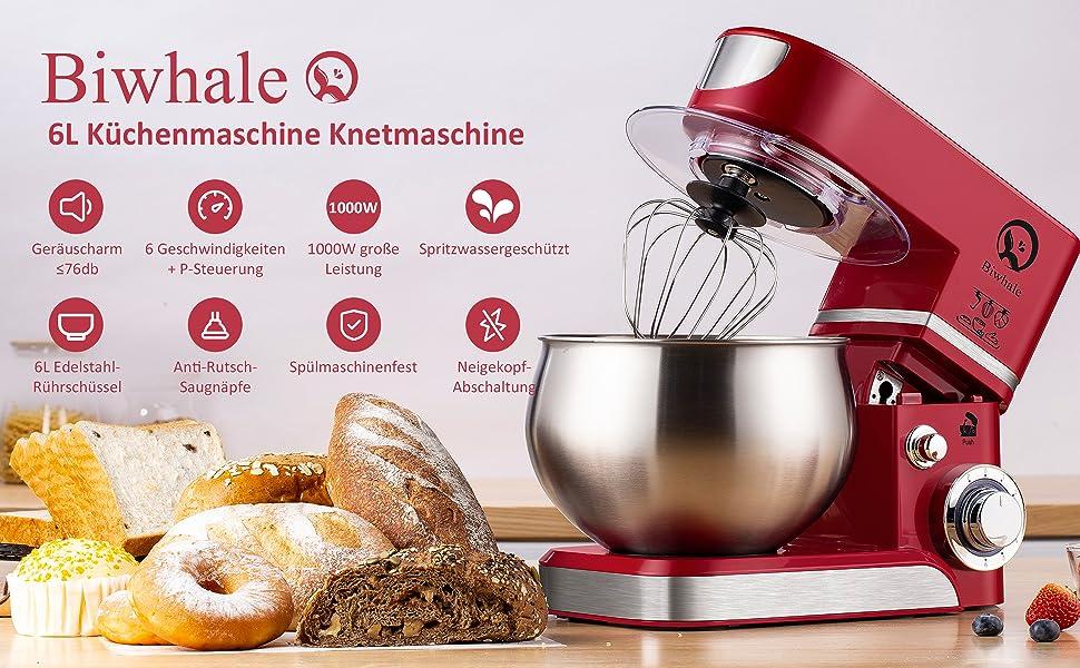 Küchenmaschine Knetmaschine 6L