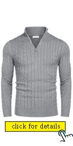 mens quarter zip sweater