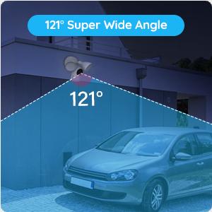 121°Super Wide Angle