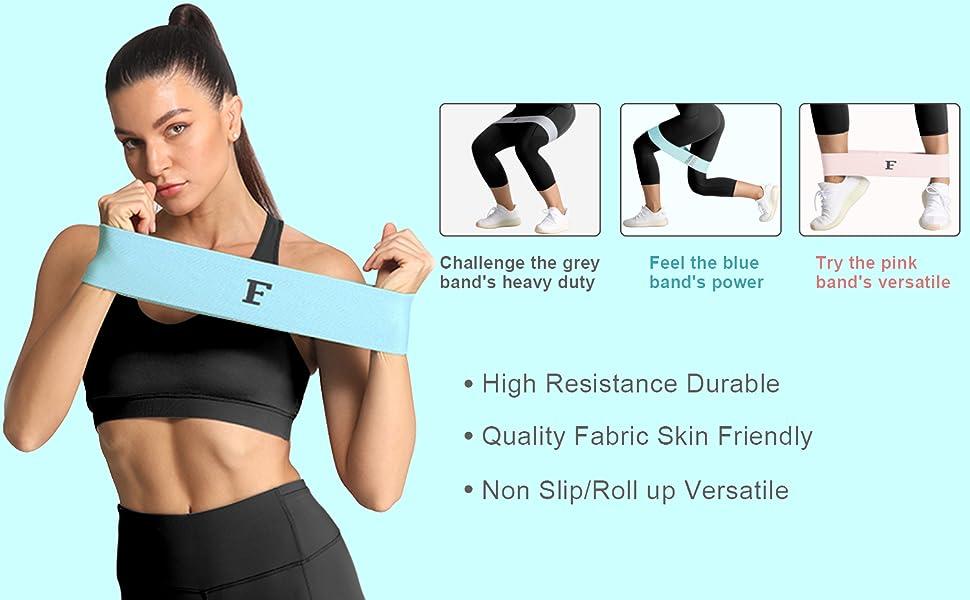 band set gym sport fitness training leg butt hip loop circle yoga pilate squat