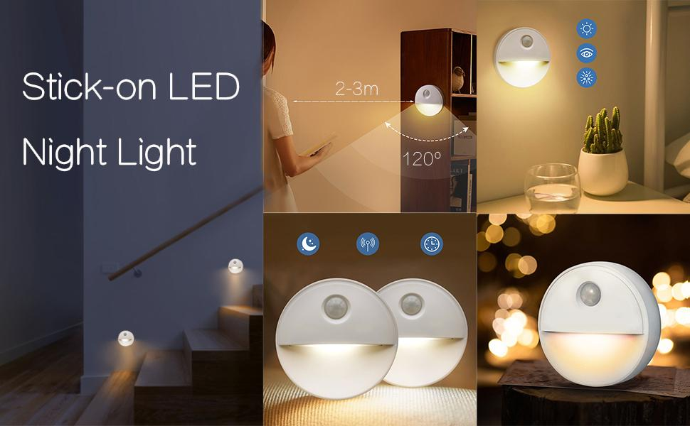 Stick on led night light