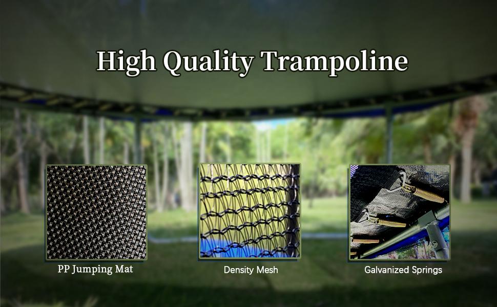 Trampoline with enclosure