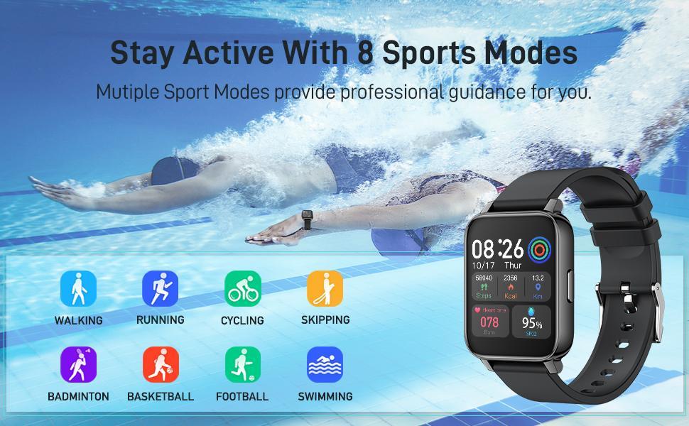 8 sport mode smart watch