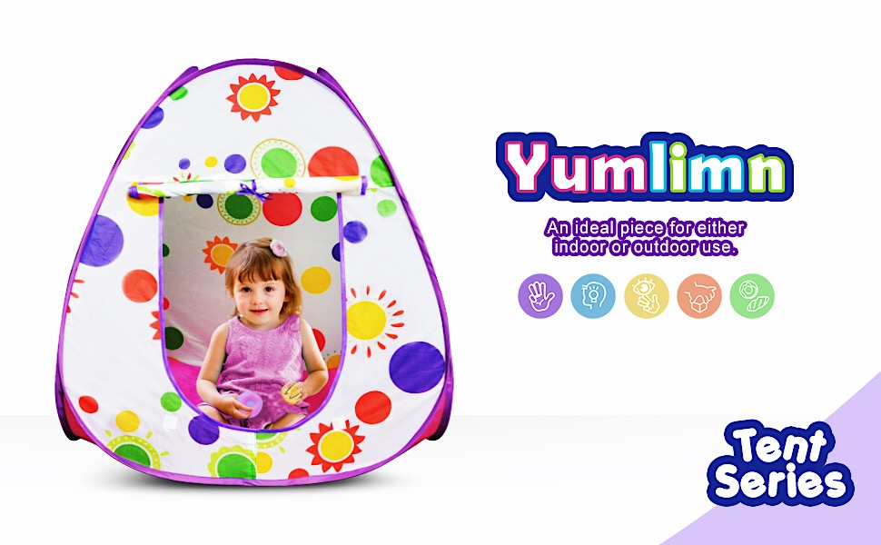 Yumlimn 2 in 1 Pop Up Tent for Kids amp; Play Food