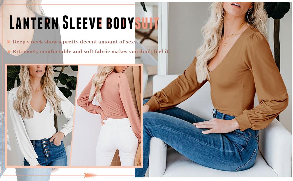 long sleeve bodysuit for women
