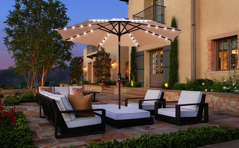 patio umbrella LED lighted