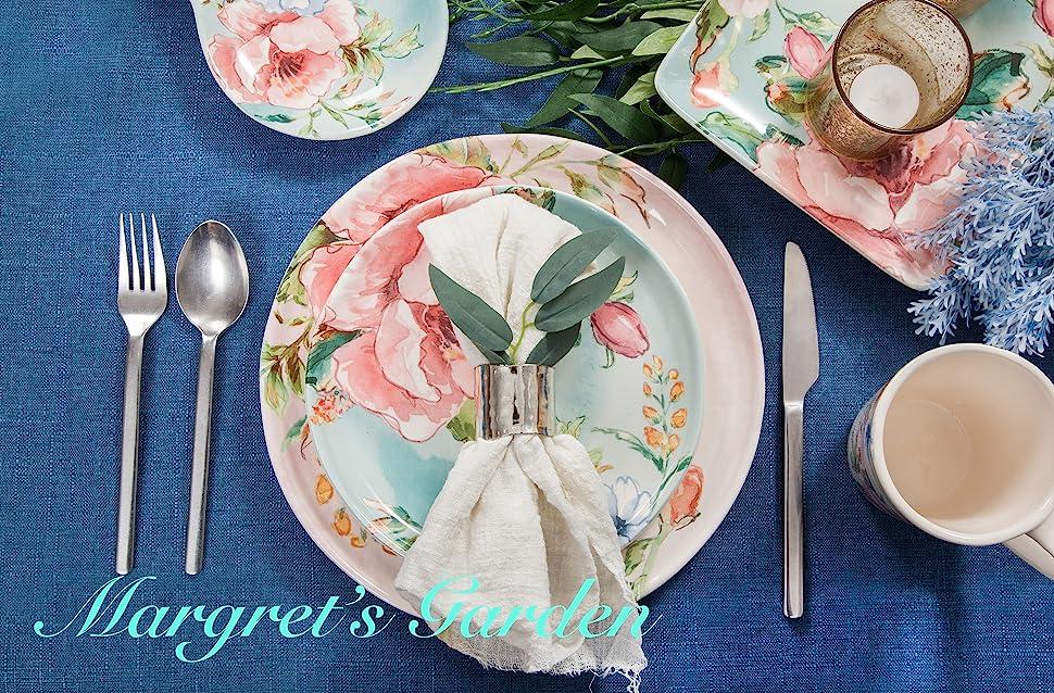 margret's garden dinnerware