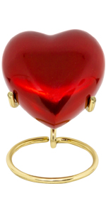 red heart urn