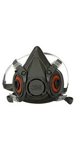 3M Half Facepiece Reusable Respirator 6300, Gases, Vapors, Dust, Paint, Cleaning, Grinding, Sawing