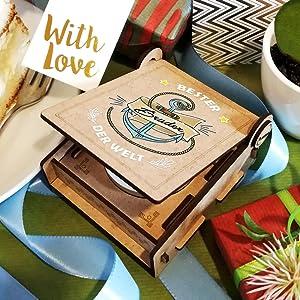 Candle IN THE BOX / Geschenkbox mit Botschaft & Kerze für deinen Bruder / FANS & Friends AG