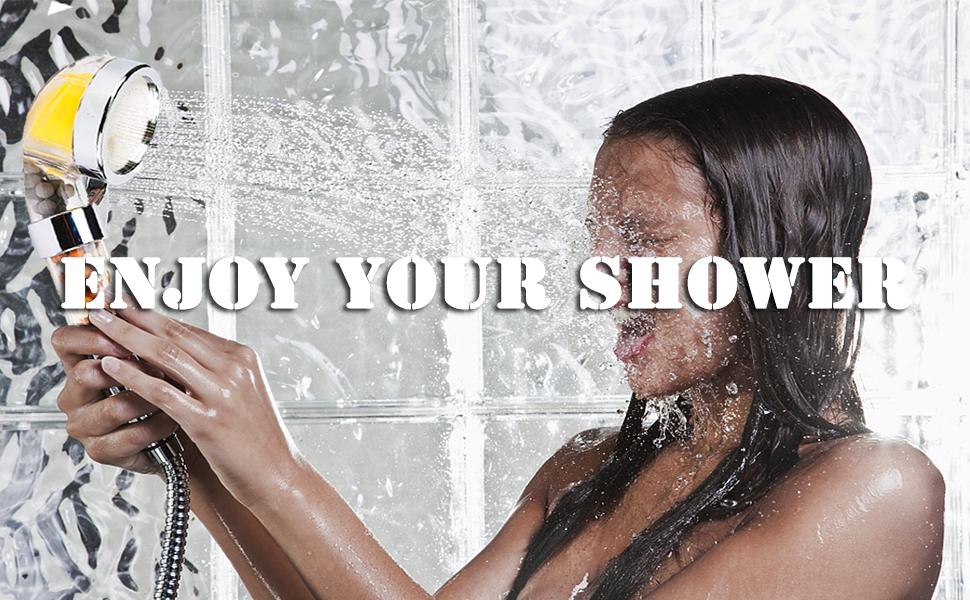 filter shower head for hard water, shower head, handheld shower head
