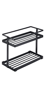Kitchen Countertop Spice Rack Organizer Cabinet Storage Shelf Mesh Metal Freestanding Rack Holder