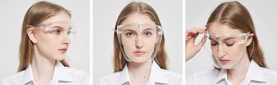 face shield safety upgraded HD vision comfort fit