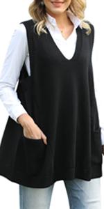 Women Knit Sweater Vest