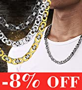 byzantine men chain necklace