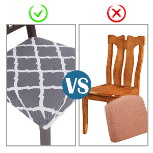 SearchI Chair Seat Covers for Dining Room  Chair Seat Protector Slipcovers