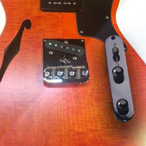 pre-wired TL guitar control plate