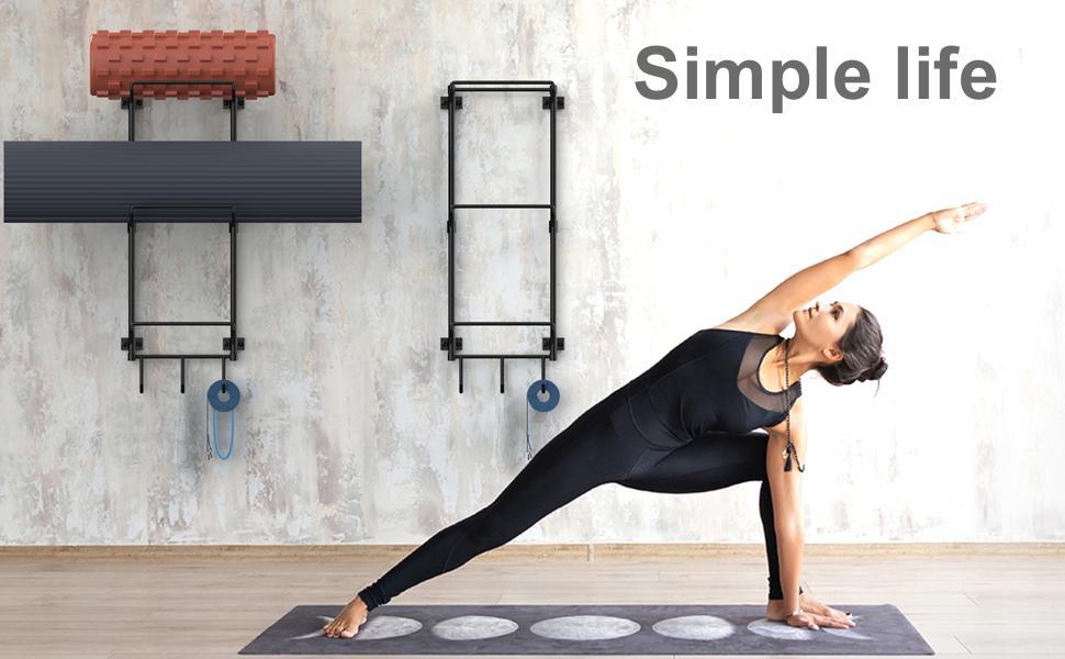 yoga mat wall holder mount