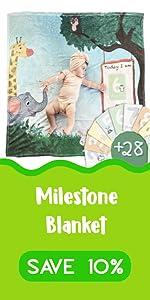 Baby Milestone Blanket save 10%
