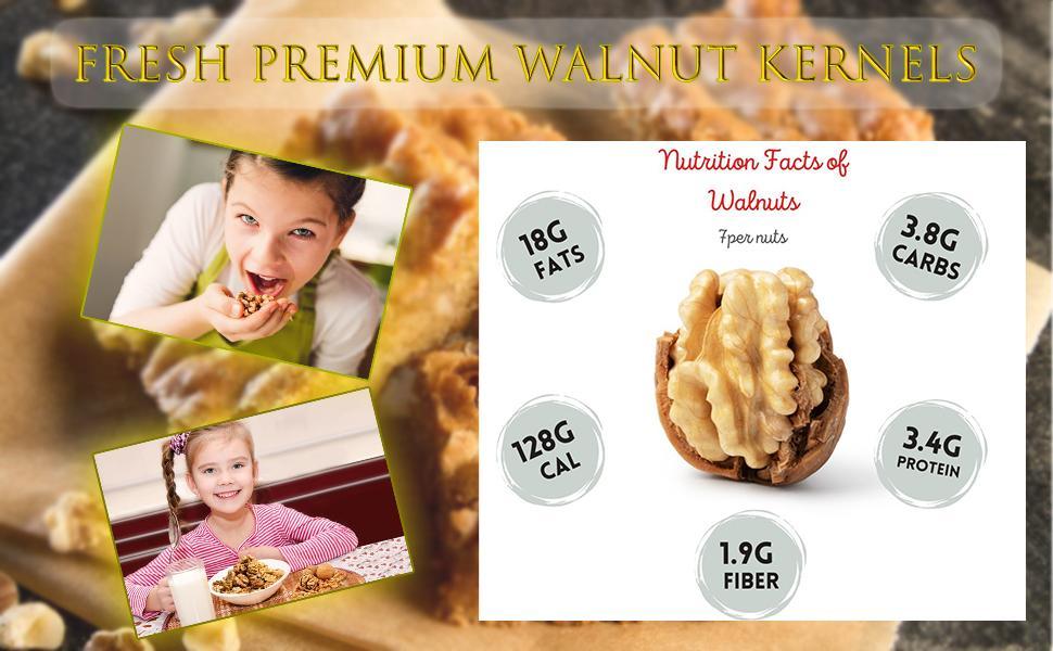 Premium Fresh Walnut Kernels Walnuts without Shell Akhrot Giri  Healthy & Delightful
