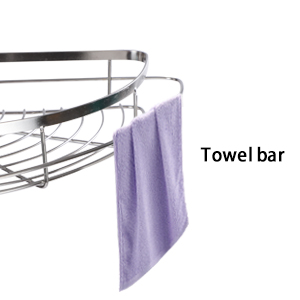 stainless steel shower corner caddy